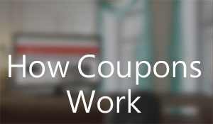 How coupons work on the web