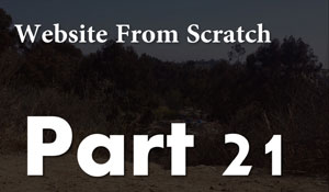 Website From Scratch - User Authentication Part 2