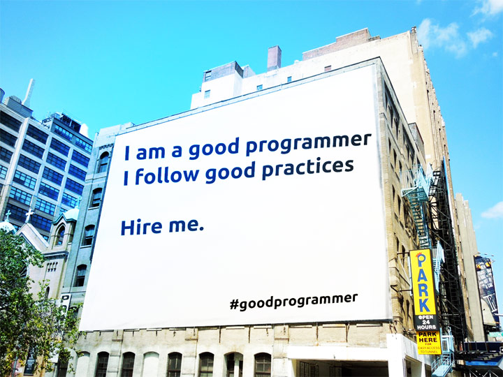Good programmer, follows good practice.