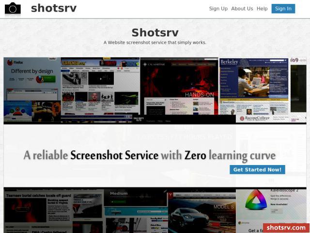 Screenshot Website service