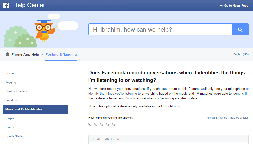Facebook listens to your private conversation