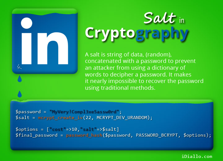 Salt in Cryptography
