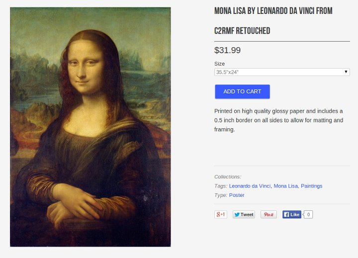 Mona Lisa for 31.99 at vintprint.com