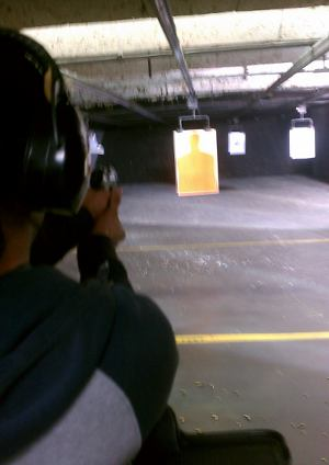 9mm barretta at 24 feet