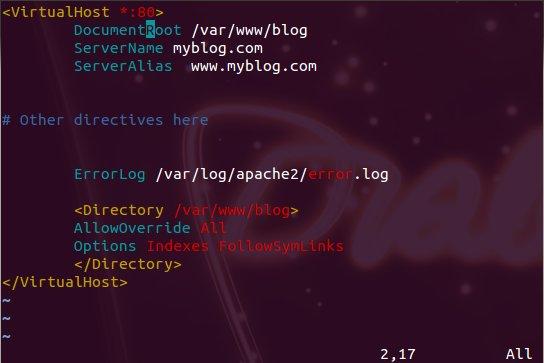 WordPress apache config