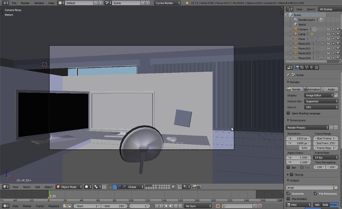 Office render solid