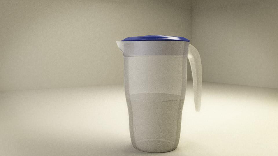 Water jar in blender 3d
