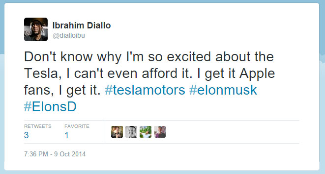 Excited about Tesla yet can't afford it.