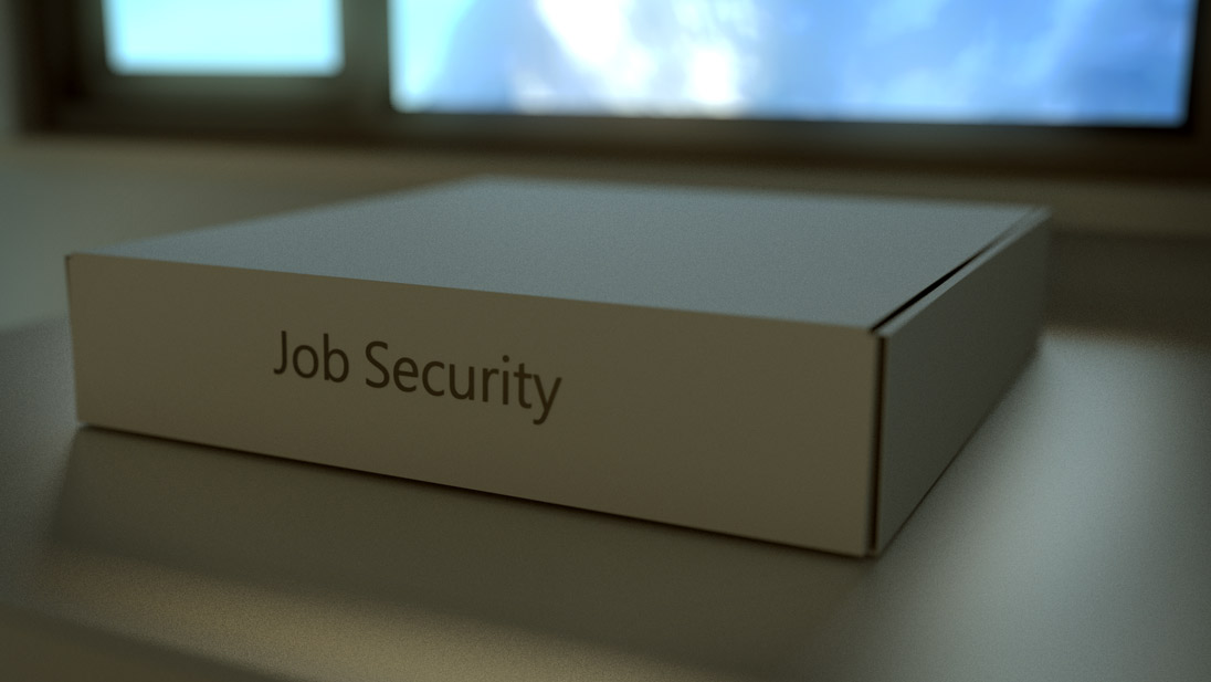 Box labeled Job security