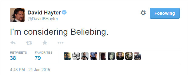 David Hayter is a belieber