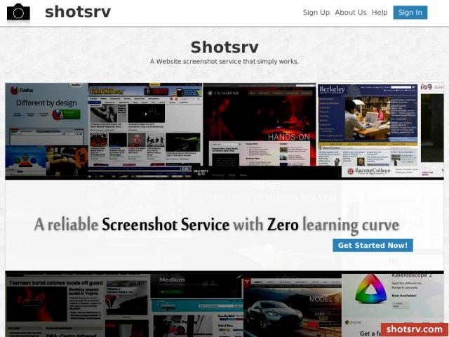 Screenshot Website service