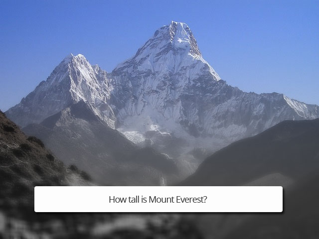 How tall is mount everest