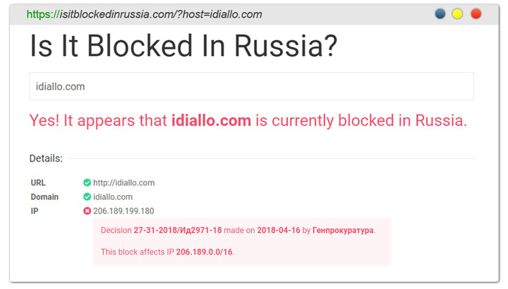 blocked in Russia