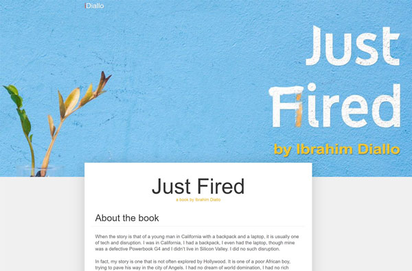 just fired landing page