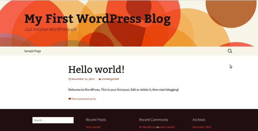 Wordpress Main site