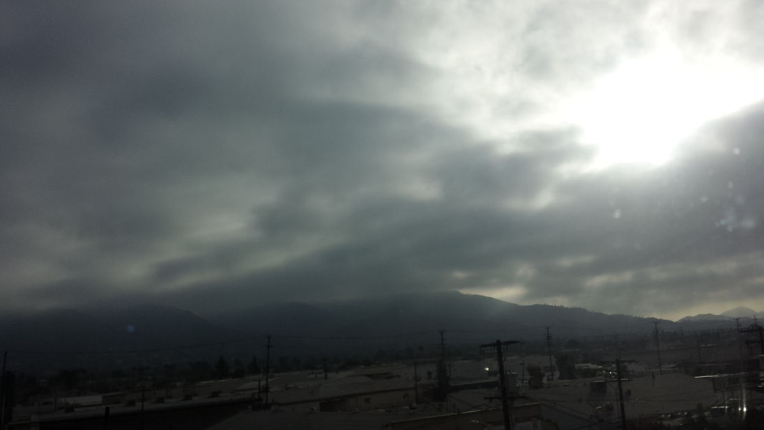 Foggy day exiting Santa Clarita