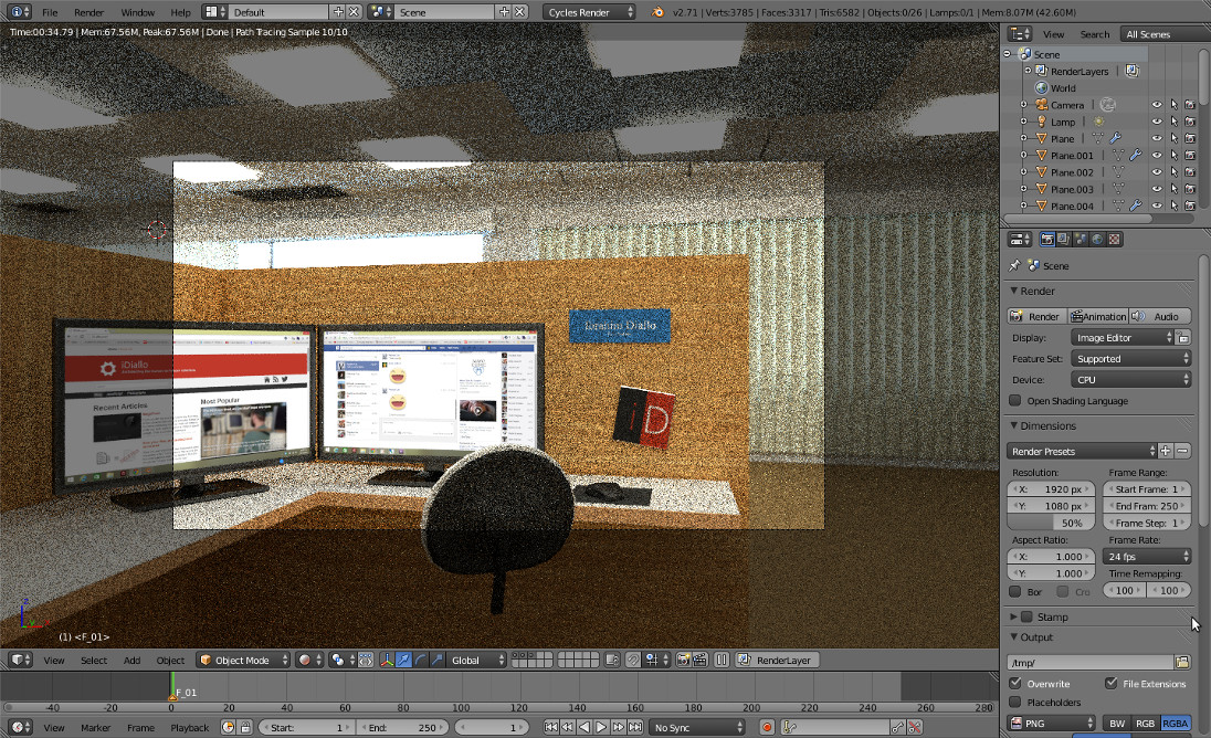 Office camera preview
