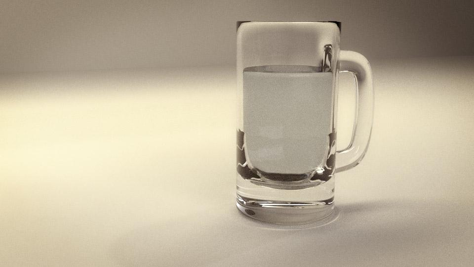 Beer mug blender 3d