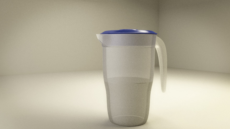 Water jar in blender 3d
